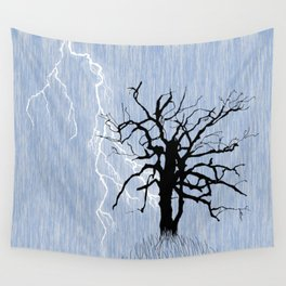 Gnarled Tree and Lightning Wall Tapestry