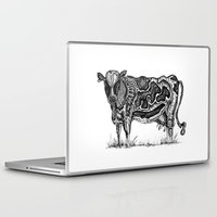 cow Laptop & iPad Skins featuring Cow by Rebexi