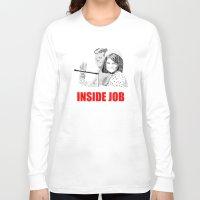 jfk Long Sleeve T-shirts featuring JFK Assassination: Inside Job! by InvaderDig