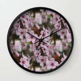 Cherry Plum Blossoms Wall Clock