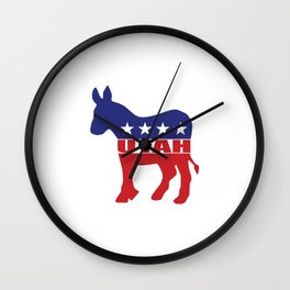 Utah Democrat Donkey Wall Clock