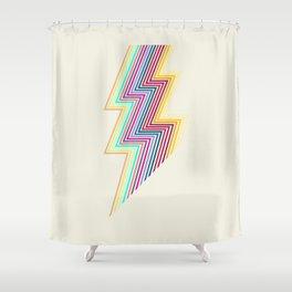 80's lightning Shower Curtain