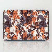 pomeranian iPad Cases featuring Pack of Dogs by Chervelle Fryer