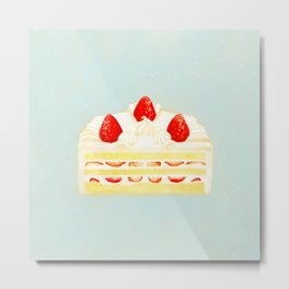 Strawberry sponge cake Metal Print