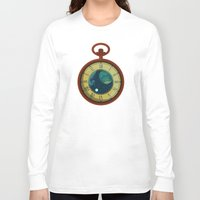 pocket Long Sleeve T-shirts featuring Cosmic Pocket Watch by badOdds