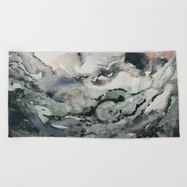 Dark Geode Beach Towel
