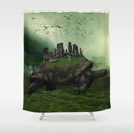 Druid Golf Shower Curtain