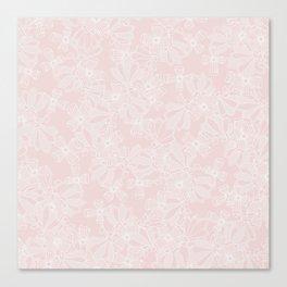 Blush Flowers Canvas Print