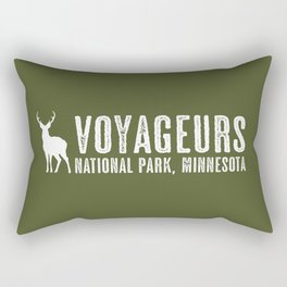 Deer: Voyageurs, Minnesota Rectangular Pillow