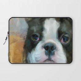 I Adore You Boston Terrier Art Laptop Sleeve