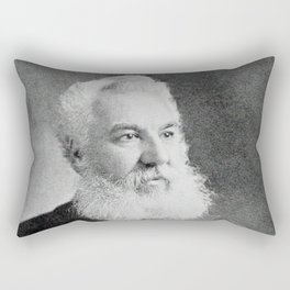 Alexander Graham Bell, the telephone inventor Rectangular Pillow