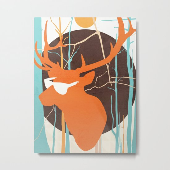In the Headlights Metal Print