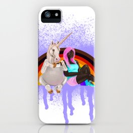 BFF's with more color more pride flag iPhone Case