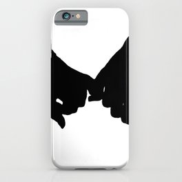 hand to hand iPhone Case