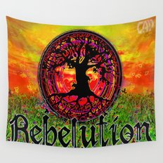 Rebelution Bright Side of Life Tree of Life #4 Sunset Wall Tapestry