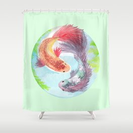 Fish on my mind Shower Curtain