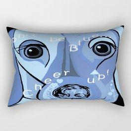 Don't Be Blue! Rectangular Pillow