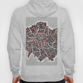 London Boroughs Abstract Map Hoody