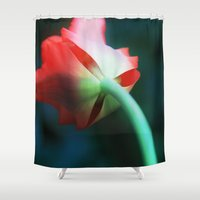 tulip Shower Curtains featuring Tulip by Fine2art