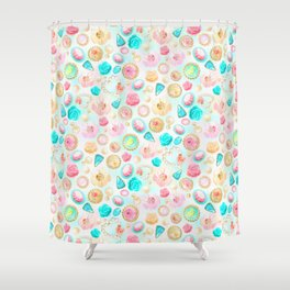 Romantic Rococo Radiance in pastel rainbow colors  Shower Curtain