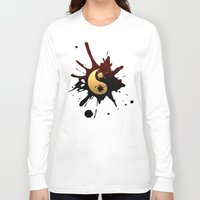 ying yang Long Sleeve T-shirts featuring Ying-Yang by Jessica Jimerson