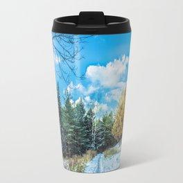 Larch in late autumn Travel Mug