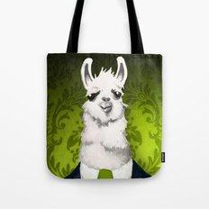 Formal Llama - Green Tote Bag
