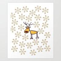 reindeer Art Prints featuring Reindeer by Mr and Mrs Quirynen