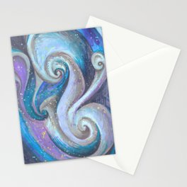 Swirl (blue and purple) Stationery Cards