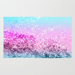 Unicorn Girls Glitter #16 #shiny #decor #art #society6 Rug