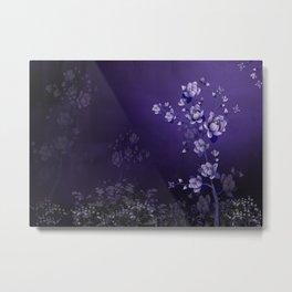 Moon Flower Magic Garden Metal Print