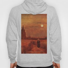 The Old Tower in the Fields by Vincent van Gogh Hoody