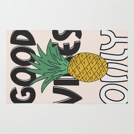 GOOD VIBES ONLY Rug