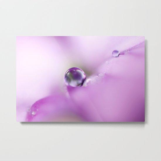Pastel Petal Drops Metal Print