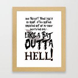 Bat Out Of Hell - 1 Framed Art Print
