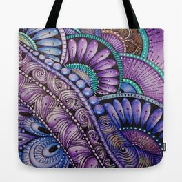 Purple Scallops Tote Bag
