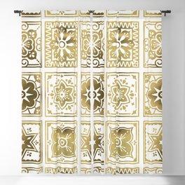 Talavera Mexican Tile – Gold Palette Blackout Curtain