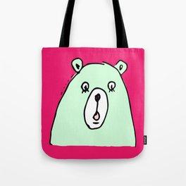 Trembling bear Tote Bag