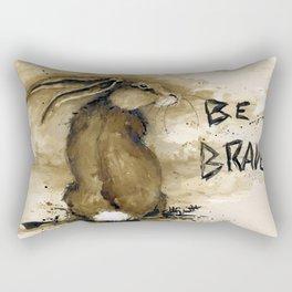 Be Brave Rabbit Rectangular Pillow