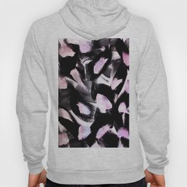black, pink and white abstract painting Hoody