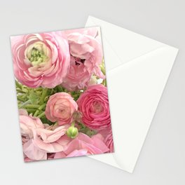 Shabby Chic Cottage Ranunculus Peonies Roses Floral Print & Home Decor Stationery Cards