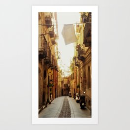 Street Scene Cagliari Art Print