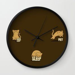Eat Sleep Prey (Cats) Wall Clock