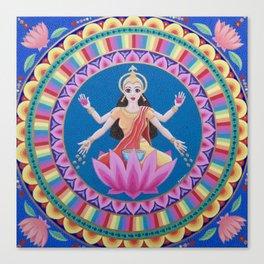 Goddess Lakshmi Lotus Mandala Canvas Print