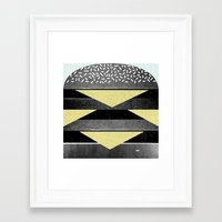 burger Framed Art Prints featuring Burger by Martin Nicolausson