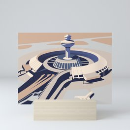 Soviet Modernism: Zvartnots airport, Armenia Mini Art Print