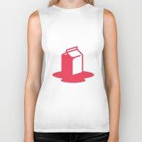 milk Biker Tanks featuring Milk by SMOKIN' HOT MEN