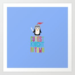 Cutest Penguin Knight T-Shirt for all Ages Art Print
