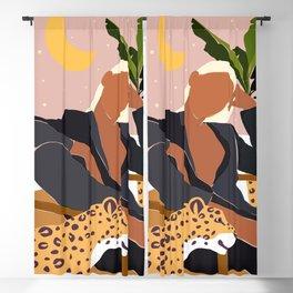 Girl Boss #illustration #painting Blackout Curtain