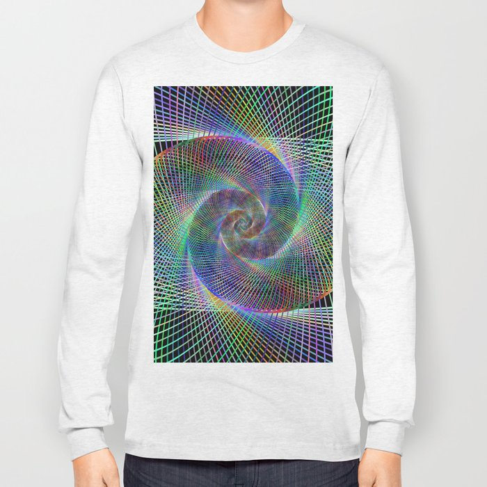 Fractal spiral Long Sleeve T-shirt